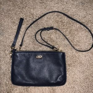 navy blue coach bag